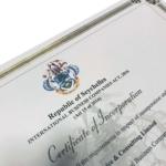 Das Zertifikat (COI) für die Gründung einer Seychellen Offshore Firma