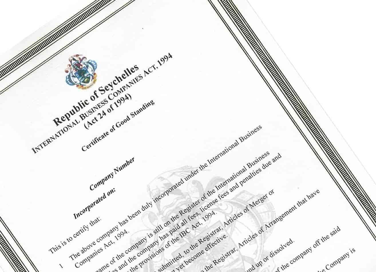 Ontvang uw Certificate of Good Standing (CoGS), onmiddellijk en zonder omwegen via ons
