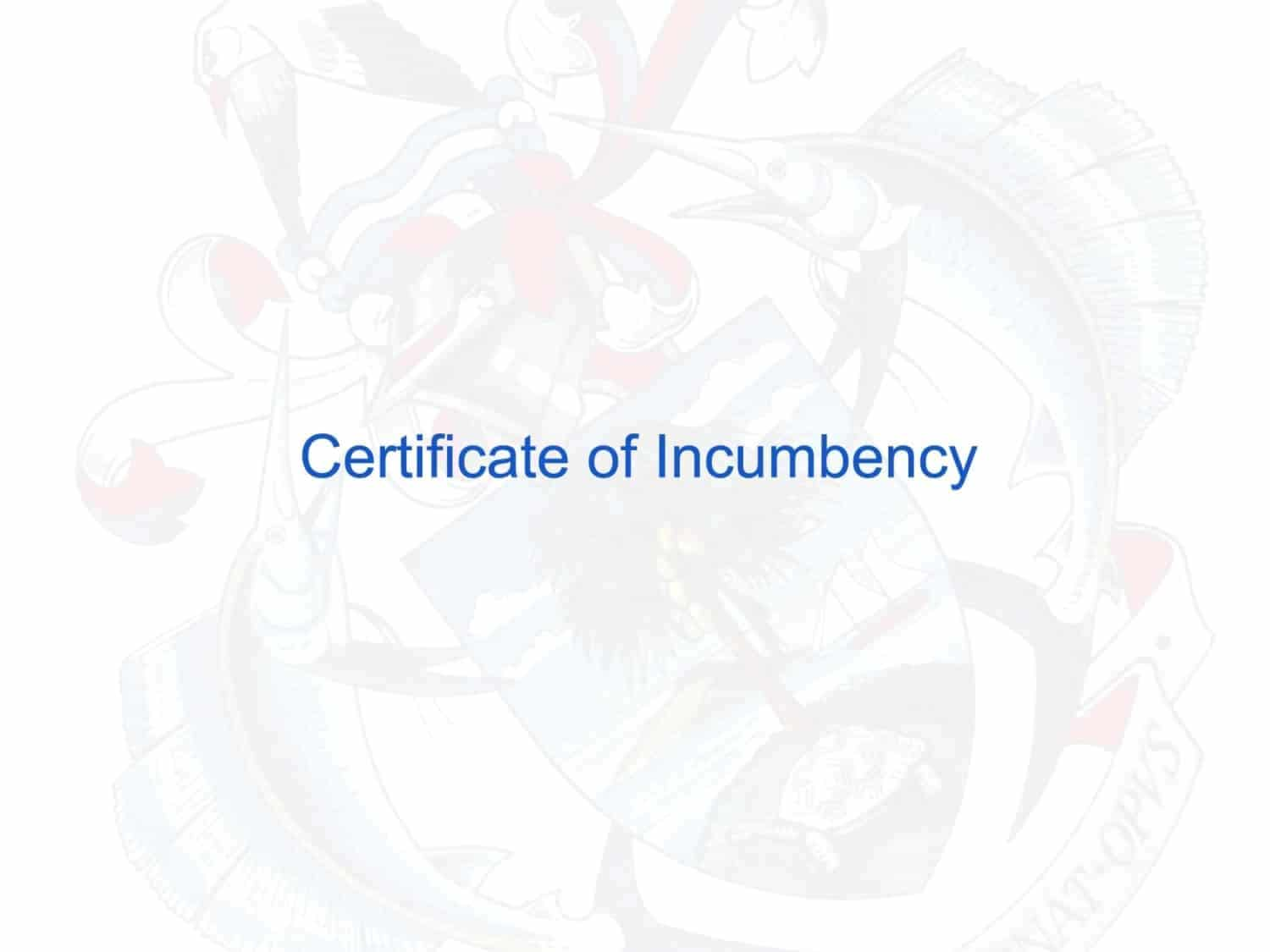 Certificate Of Incumbency What Is This Document And How Do I Get It