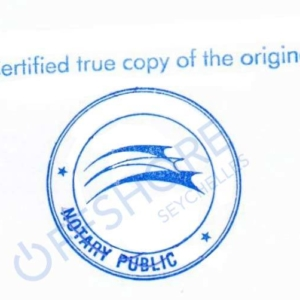 Notarization by a notary public in the Seychelles