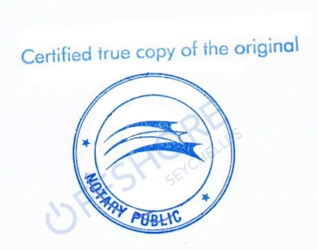 Notariële verlijding door een notaris op de Seychellen