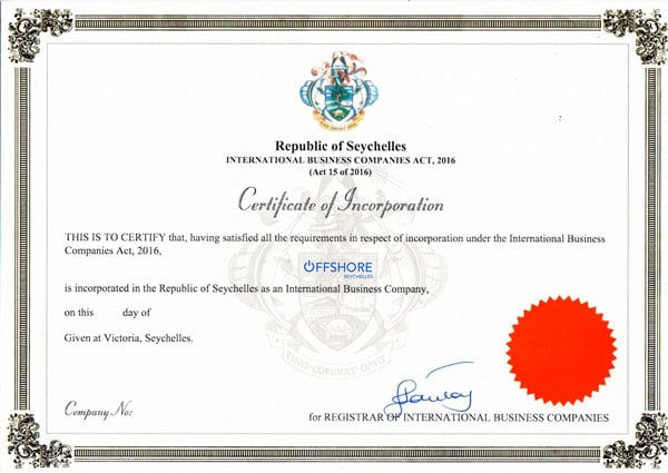 Certificate of Incorporation, COI (certificate of incorporation)