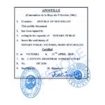 Wij zorgen voor de aanvraag van een apostille door het Hooggerechtshof van de Seychellen
