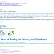 FSA Seychelles Corrección del 22.07.21, sin datos del Director o Accionista
