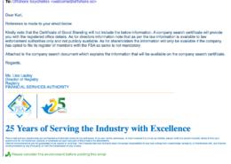 FSA Seychelles 22.07.21の訂正、取締役または株主からのデータなし
